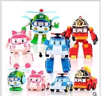 爆款超可爱韩国q版变形机器人robocar