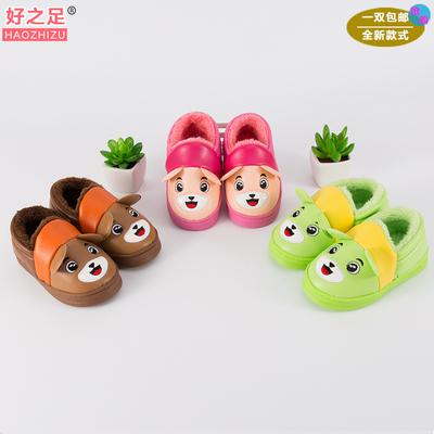 童女童保暖居家室内防滑可爱棉拖鞋儿童秋冬季婴儿包