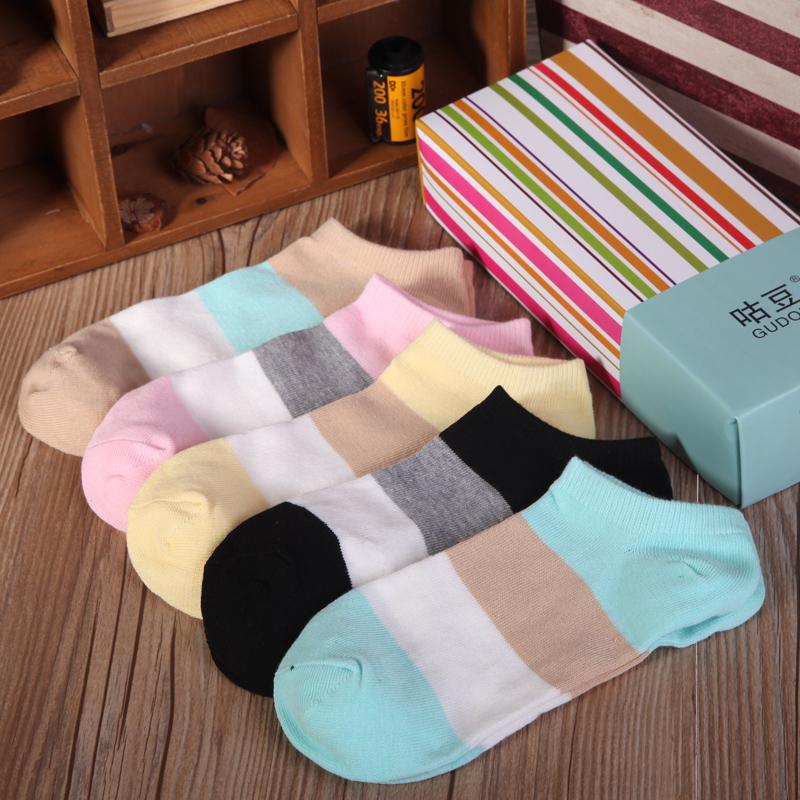 袜子女短袜棉袜夏季薄款袜子浅口隐形女船袜女士可爱女袜礼盒包邮