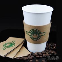查看定制加厚一次性咖啡奶茶纸杯套外带打包纸杯子隔热杯套可印logo