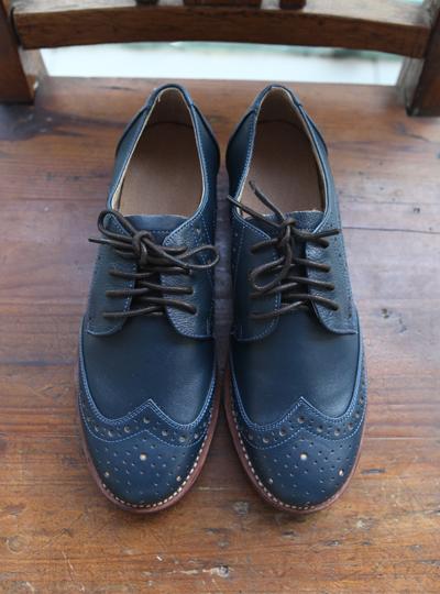 品牌手工2015新款水染擦色英伦风平底鞋头层牛皮复古森女单鞋皮鞋