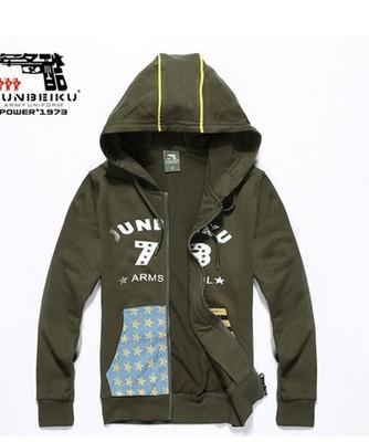 特价军备酷TWY308户外登山休闲军迷服饰纯棉军绿连帽儿童卫衣