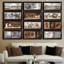 客厅美式样板间装饰画/卧室走廊/客厅/餐厅/玄关多选【横幅组合】