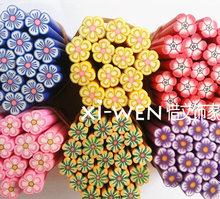 查看热卖款大号软陶条花朵手机壳美容美甲DIY配件材料包仿真奶油贴钻
