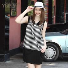 秋装孕妇条纹裙孕妇职业装孕妇裙时尚欧美孕妇裙子夏装短袖连衣裙