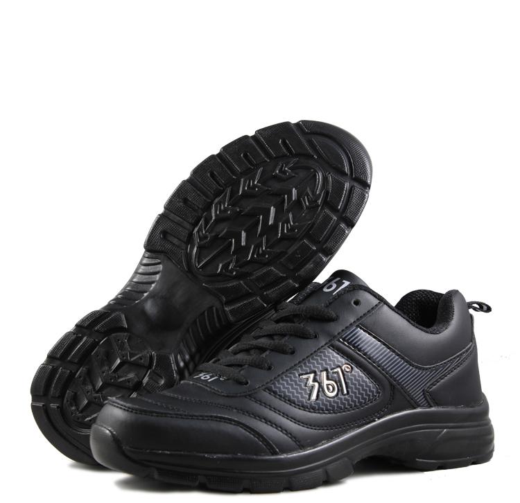 全纯黑色工作装特价清仓冬季加棉运动鞋特大码旅游鞋波鞋男女跑步