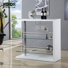 吉徕福现代靠墙吧台桌家用时尚烤漆酒柜隔断柜简约酒架杯架家具