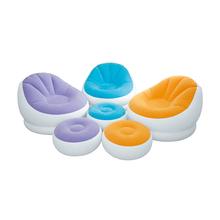 正品INTEX  咖啡贵妃充气单人沙发 成人懒人座椅 休闲躺椅