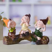 查看树脂工艺品人物简约可爱客厅家居装饰品三不娃娃创意摆件小摆设