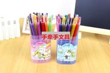 查看中韩合资普的旋转蜡笔环保无毒旋转油画棒12色/24色蜡笔桶装蜡笔