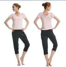 夏季新款短袖+哈伦裤瑜伽服套装 广场舞蹈服套装包邮