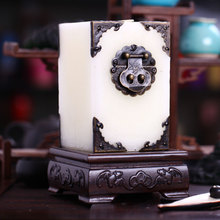 中式古典方形香薰大蜡烛 复古酒店宴会摆件装饰浪漫工艺礼品烛台