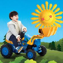 送礼礼物 快乐年华儿童工程车 挖土机儿童可坐可骑玩具童车