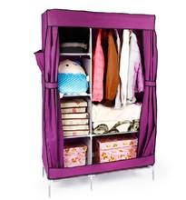 特价促销天兰美衣柜简易布衣柜侧拉衣柜组合折叠衣柜衣橱钢架包邮