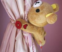 查看卡通/韩国/小熊轻松熊/窗帘扣环/窗帘绑带/窗帘夹/娃娃