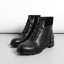 查看2015秋冬新款女靴平跟短靴系带裸靴冬靴欧美平底马丁靴大码女鞋潮