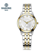RARONE雷诺商务经典不锈钢表 石英表进口机芯超薄防水手表女表