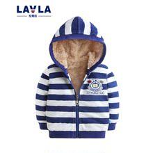拉唯拉童装2017年秋装新款  婴儿外套 羊羔绒防风宝宝外套韩版潮