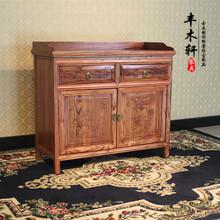 查看雕花餐边柜 茶水柜酒店备餐柜木质餐柜中式实木柜子明清仿古家具