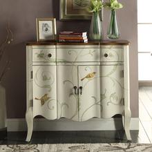 绿宜居美式简约玄关柜桌小户型门厅柜彩绘隔断柜子欧式客厅装饰柜
