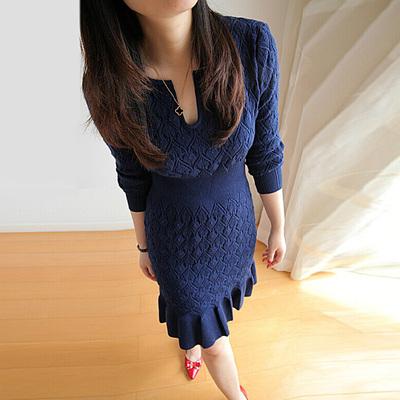 品牌女装裙子冬装冬裙加厚羊毛裙打底裙冬季连衣裙秋冬款2015新款