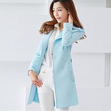 修身显瘦风衣女2017新品中长款气质甜美小香风女式秋装外套