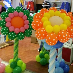 气球立柱路引 商场布置 生日派对布置 立柱底座全套 太阳花路引