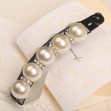 韩版原创发饰典雅珍珠竖夹扭夹香蕉夹甜美发饰头饰饰品礼物精致