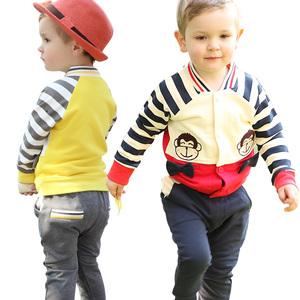 超能娃娃2015春装小孩外套男童宝宝卫衣婴幼儿童绅士休闲二件套装