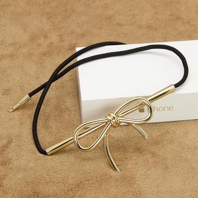 欧时力新款女士金属蝴蝶结皮带松紧细腰带  弹力绳皮带腰链包邮