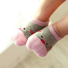 查看秋冬款儿童地板袜子男女宝宝防滑袜套加厚胶底室内婴儿纯棉学步袜