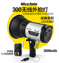 耐思经典300一体式外拍灯 LED造型灯 内置无线外拍摄影闪光灯