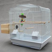 查看虎皮鹦鹉笼子 大号不锈钢玄凤牡丹鹦鹉繁殖鸟笼子大型金属 八哥笼