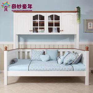 定制实木男孩女孩儿童床儿童套房家具带书柜组合多功能床价格:$