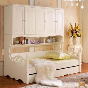 菲亚家居多功能组合床 儿童床 青少年床 男女孩带衣柜床 8039价格: