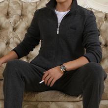 2017秋冬季中老年运动套装男运动服加绒加厚大码运动装开衫运动衣