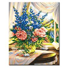 快乐工坊diy数字油画 百款任选 浪漫唯美减压填色金基范秘密花园