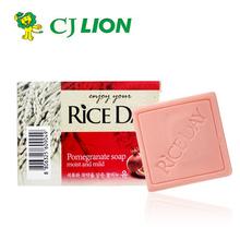 查看韩国进口正品CJ思美兰大米洁面皂/美白保湿活肤香皂洗澡皂石榴味