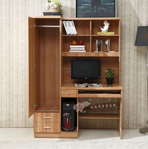 衣柜书架一体人气排行 成都台式家用电脑桌书柜组合多功能书架一体连衣柜学生书桌包邮