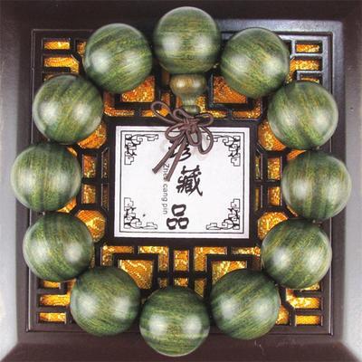 精工小孔天然美洲绿檀木手串圣檀木佛珠檀香木男女款手链同料顺纹