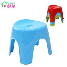 好尔 加厚塑料凳子 浴室防滑圆凳 成人小板凳换鞋凳矮凳家用凳子