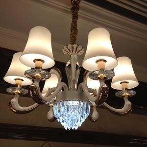 欧式简约水晶吊灯客厅餐厅卧室锌合金大厅别墅酒店复式吊灯具灯饰价