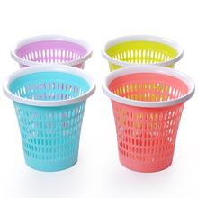 一拖净简约时尚塑料纸篓垃圾桶 无盖家用厨房垃圾桶 办公室纸篓桶