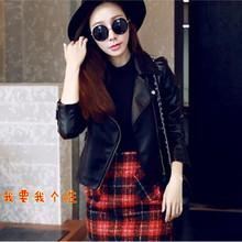 查看韩版PU皮衣女装秋季新款皮衣短款外套修身休闲机车服青年皮夹克潮