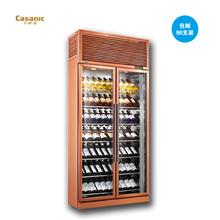 Casanic/卡萨诺 JY-658A2M双门恒温红酒柜 98支装不锈钢葡萄酒柜