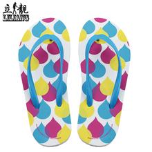 立靓人字拖 夏季新款休闲沙滩拖鞋女士平底防滑凉拖 夹脚凉拖鞋