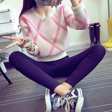 曼芙娇2017新款秋装韩版长袖针织衫女士毛衣明星同款套头外套女