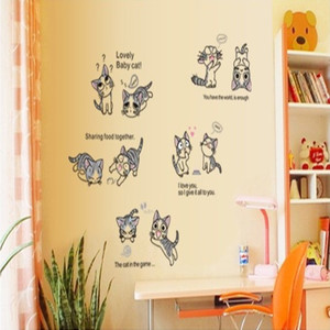 卧室幼儿园墙壁贴画厨房橱柜装饰卡通墙贴纸价格:$7.5元-墙厨柜