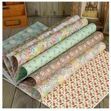 大号礼物包装纸 韩版A3包装纸 手工DIY书皮纸封面包书纸 10色20张
