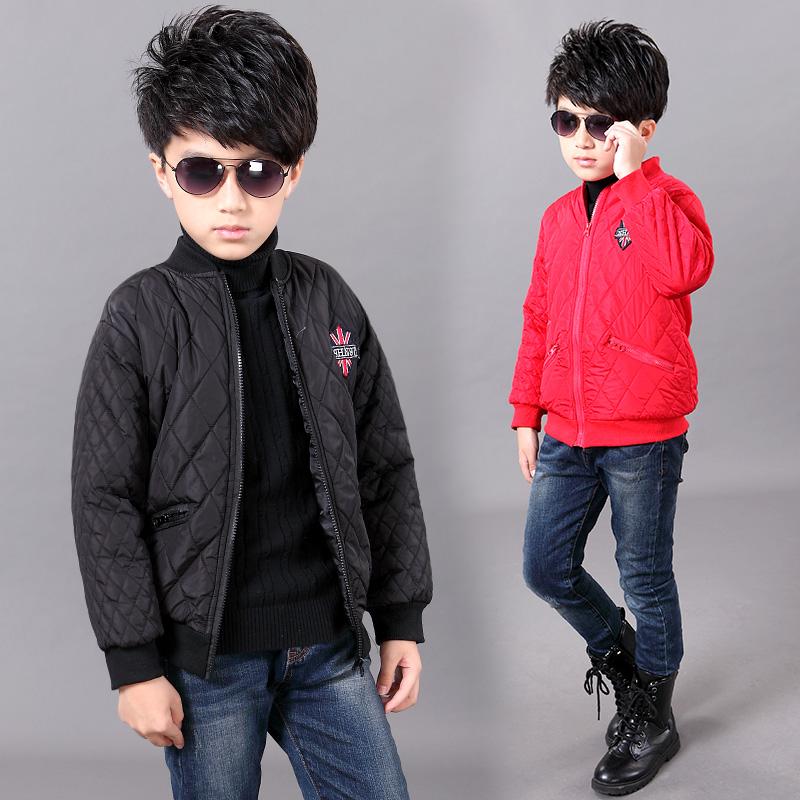 10新款男童棉衣加厚8儿童轻薄款棉服7小孩外套韩版5中大童6潮11岁